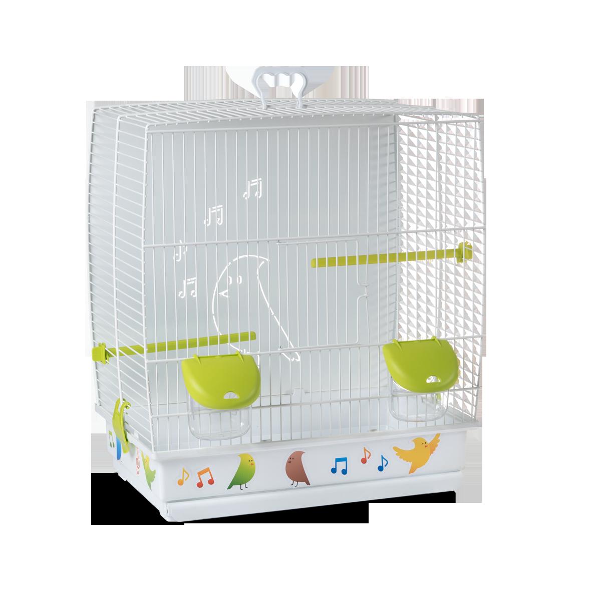 Клетка для птиц Voltrega (645) цвет белый/зеленый