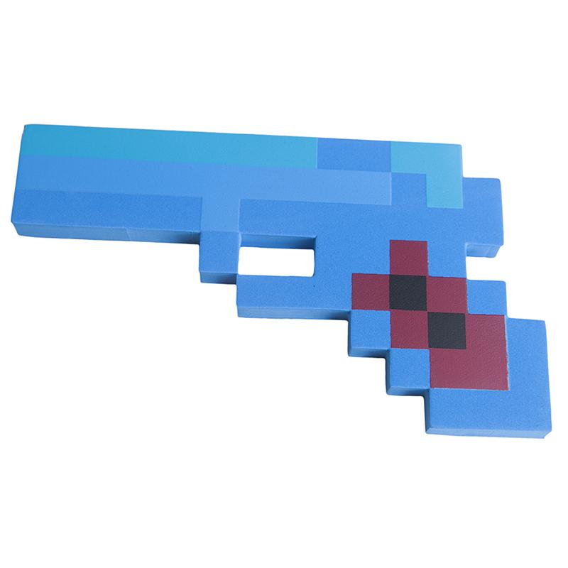 Купить Пистолет 8Бит Pixel Crew Синий пиксельный 22см, Мечи, кинжалы и копья