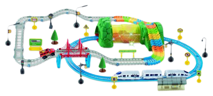 Железная дорога + Автотрек на р/у Huan Nuo 3631Y