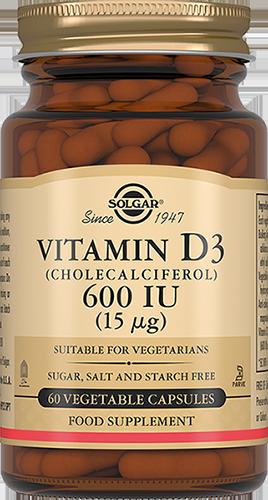 Купить Витамин D3 600 МЕ Solgar 60 капсул