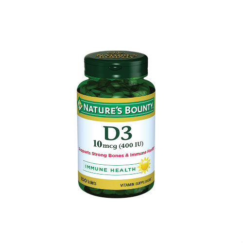 Купить Добавка Nature's Bounty Витамин D3 400 МЕ таблетки 250 мг 100 шт.