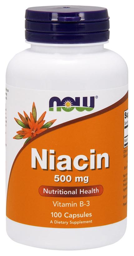 Купить Витамины группы B Now Niacin (500 мг) 100 капсул