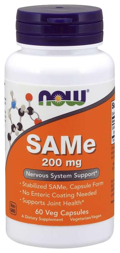 Купить Для нервной системы NOW SAMe 200 мг таблетки 60 шт.