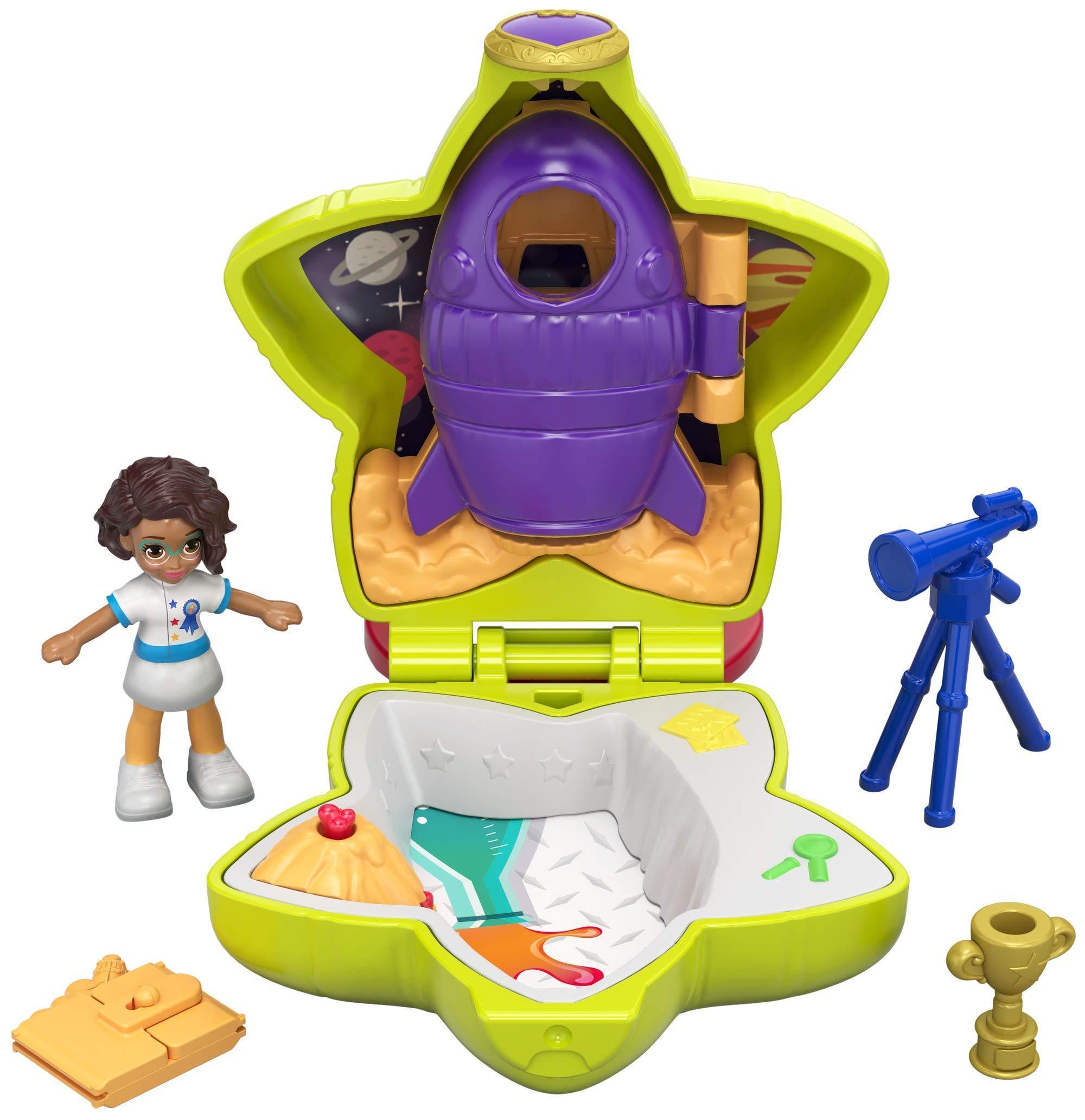Игровой набор Mattel Набор игровой Polly Pocket компактный Шани и космический корабль