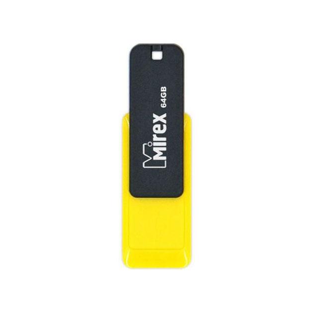 USB флешка MIREX City 64GB Yellow (13600
