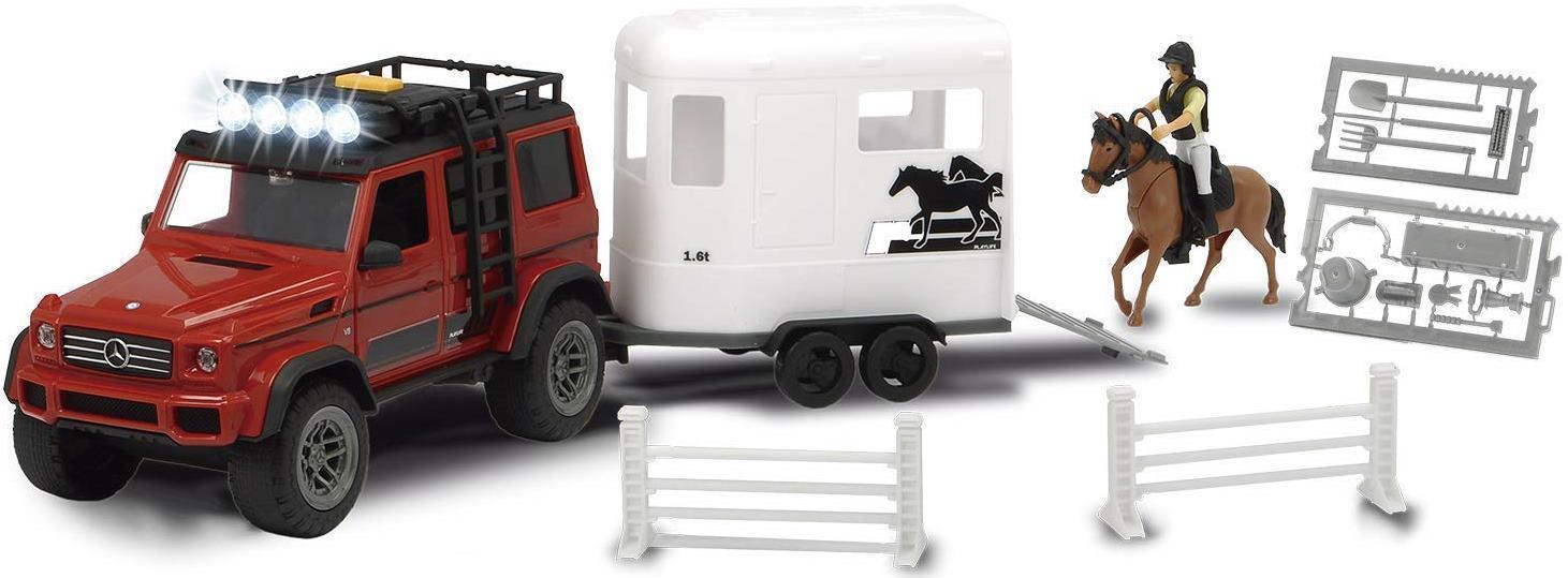 Купить Игровой набор Dickie Toys набор для перевозки лошадей серии PlayLife,