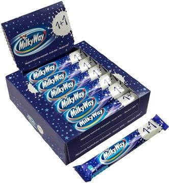 Шоколадный батончик Milky way 1+1.18 шт по 52 г.