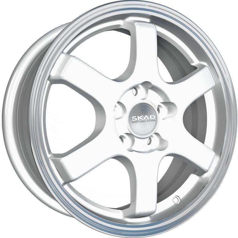 Колесные диски SKAD R J PCDx ET D WHS208121 Киото 6x15/4x100 ЕТ48 D54,1 Алмаз белый (CAE WHS208121)