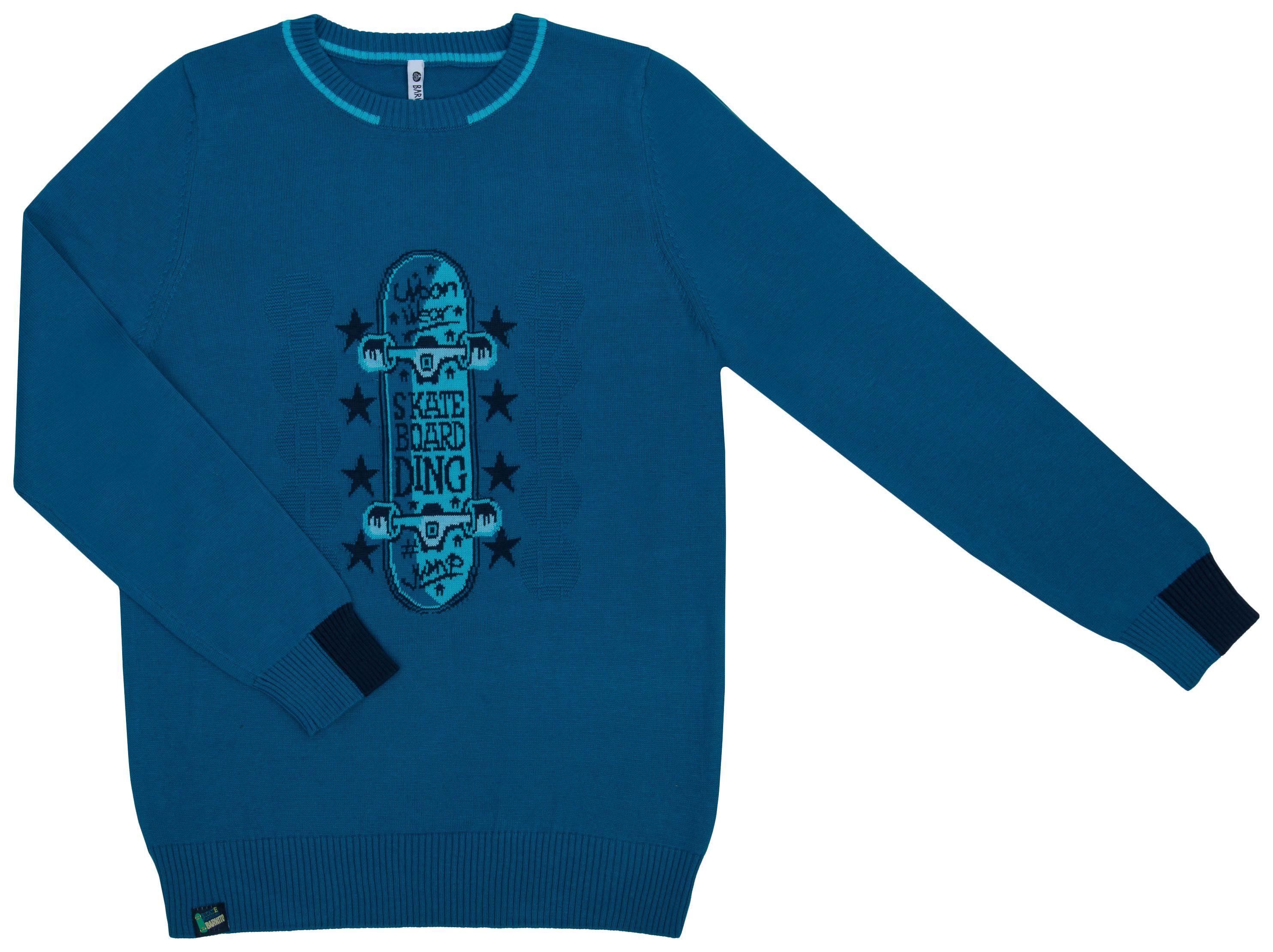 Купить Скейтеры синий, Джемпер для мальчика Barkito Скейтеры, синий р.116, Детские джемперы, кардиганы, свитшоты
