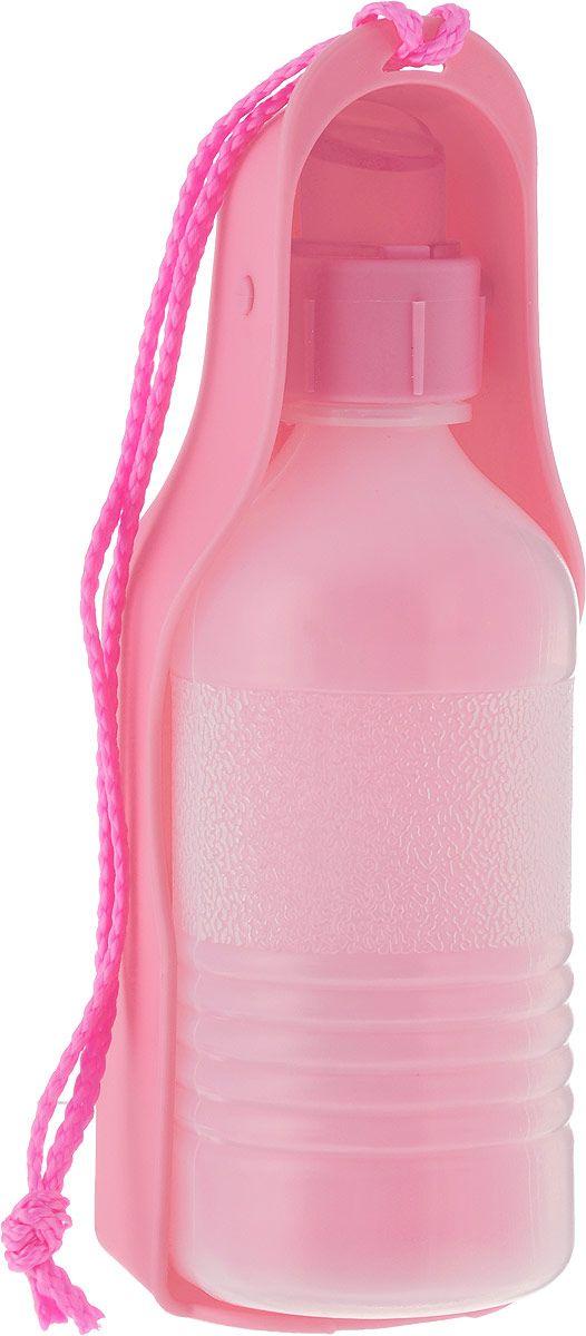 Поилка для животных №1 Портативная, розовая,