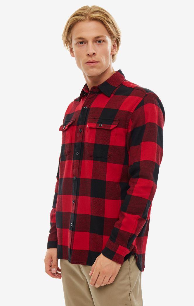 Рубашка мужская Levi's 1957300960 красная/черная L