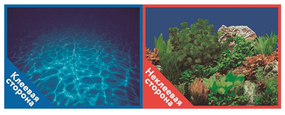 Фон для аквариума Prime самоклеющийся Синее море/Растительный