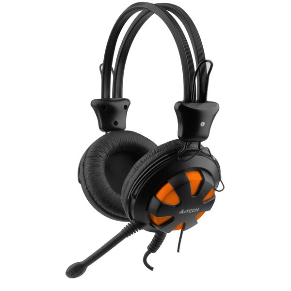 Игровые наушники A4Tech Comfort HS-28-3 Orange  - купить со скидкой
