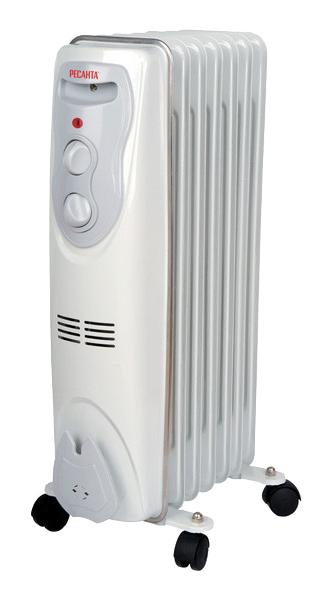 Радиатор Ресанта ОМ-7Н Белый фото