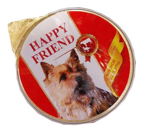 Консервы для собак HAPPY FRIEND мясное ассорти 125г.