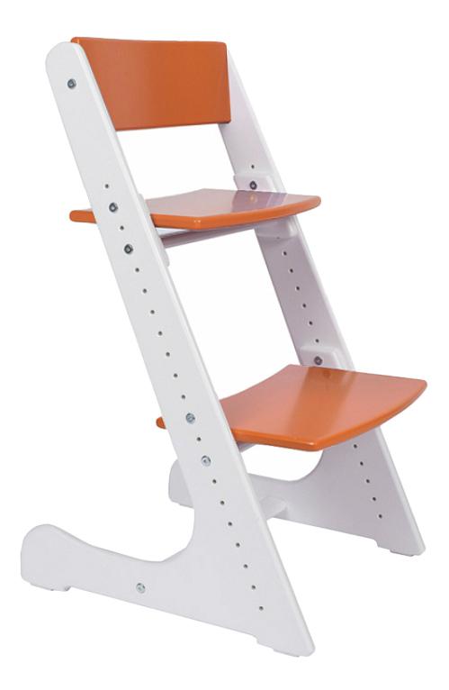 Купить Растущий, Стул Конек Горбунек растущий оранжево-белый, Детские стульчики