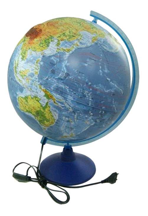 Развивающая игрушка Globen Глобус Земли Физико-Политический Рельефный 320 С Подсветкой