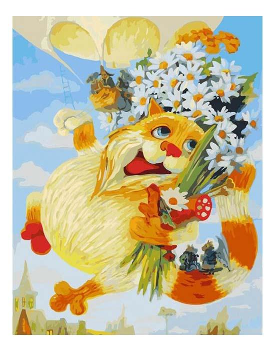 Раскраска по номерам Белоснежка День рождения фото