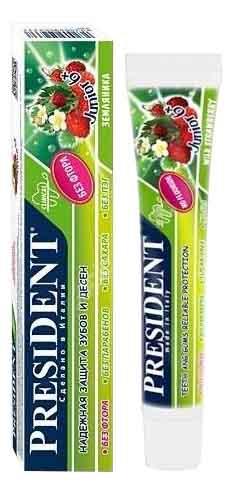 Купить Детская зубная паста President Детская З/п Junior(Земляника) 6-12 Лет 50Мл Без Фтора, Детские зубные пасты