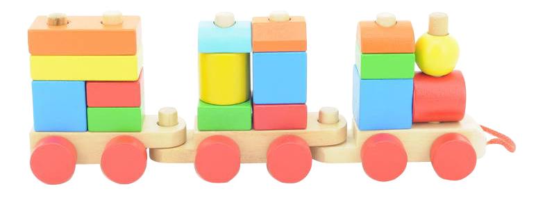 Купить Паровозик, Конструктор деревянный Игрушки из дерева Конструктор-паровозик, Мир Деревянных Игрушек, Деревянные конструкторы