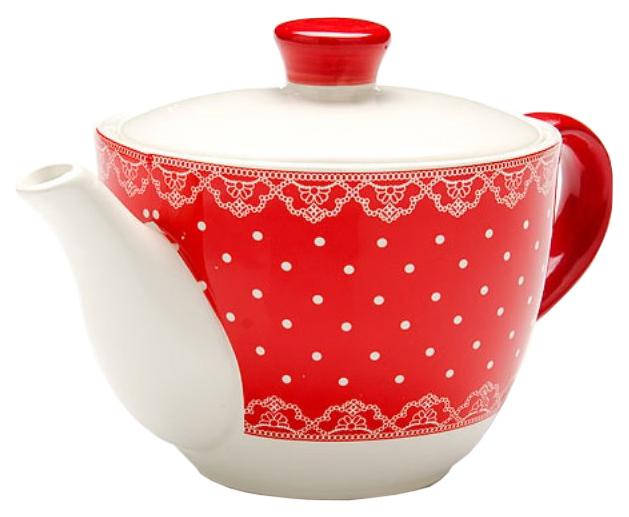 Заварочный чайник Loraine 25822 Белый, красный
