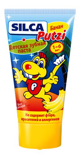 Купить Зубная паста Силка Putzi банан детская 50 мл, , SILCA, Детские зубные пасты