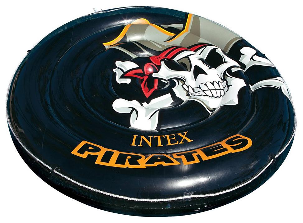 Надувная ватрушка Intex Пиратский остров 188