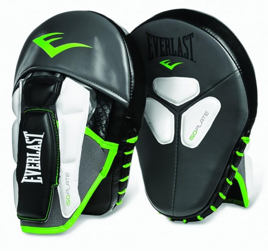 Боксерские лапы Everlast Prime Mantis черно зеленые