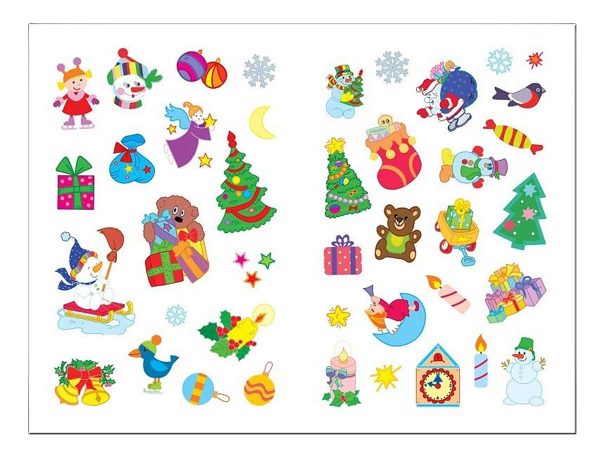 Купить Дед Мороз, Книжка Мозаика-Синтез Дед Мороз, Книжки с наклейками