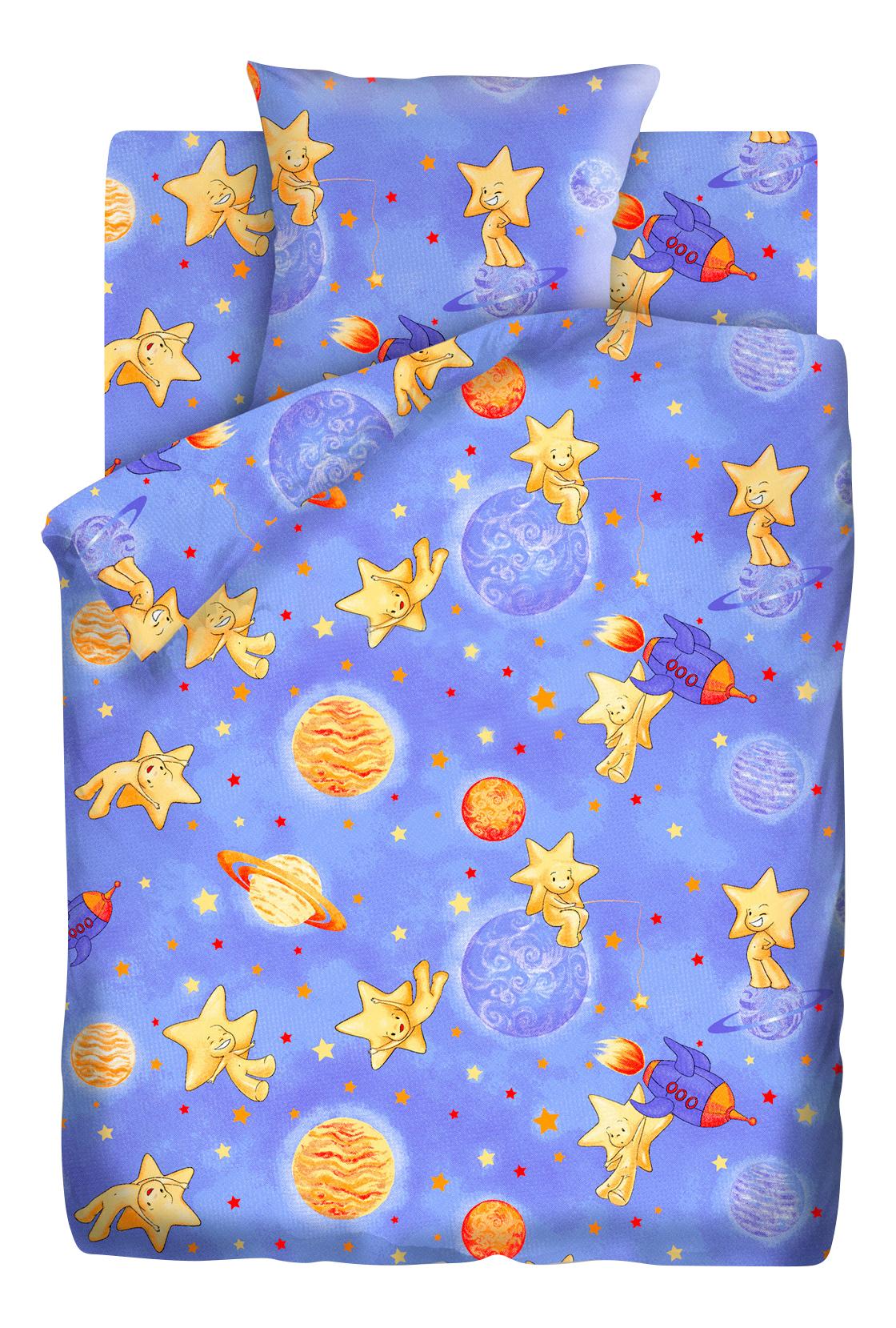 Комплект постельного белья детский Непоседа бязь Кошки-мышки Космостар фото