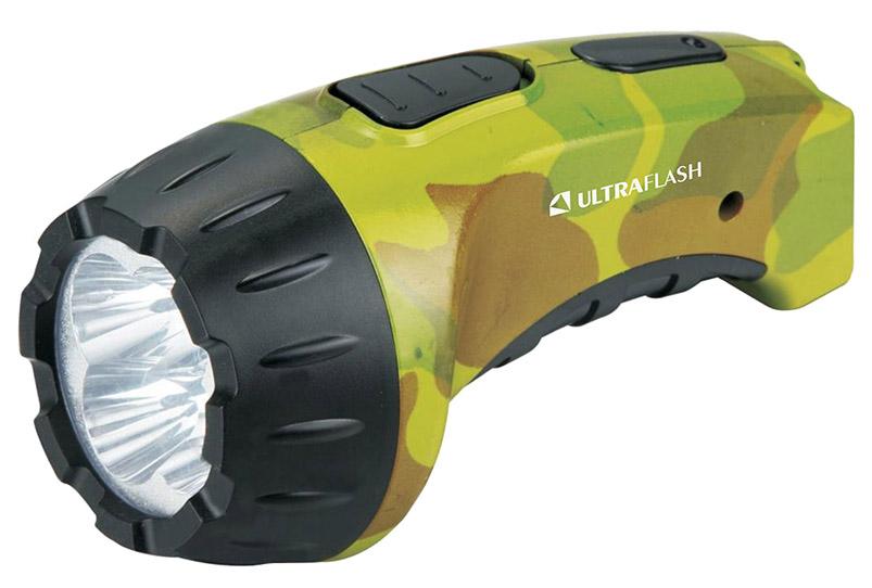 Туристический фонарь Camelion Ultraflash Akku Profi LED3804ML зеленый/коричневый, 1 режим