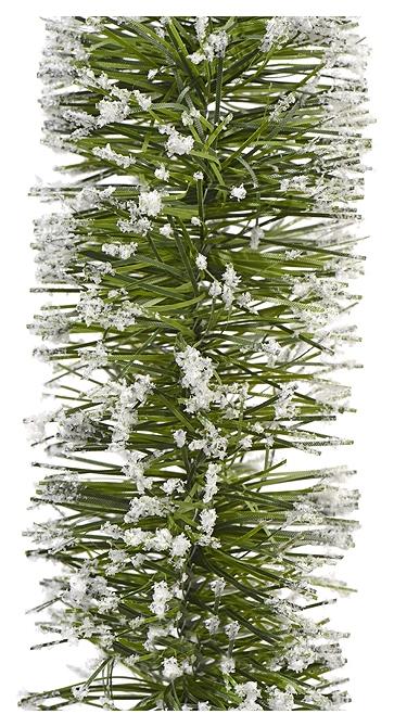 Мишура Kaemingk Хвойная заснеженная 433729 Белый, зеленый