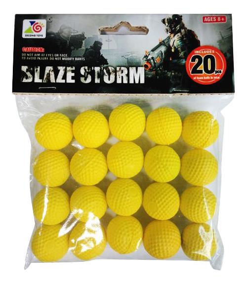Купить Blaze Storm 20 шт., Набор Мягких пуль 20 шариков для Бластера Shantou Gepai ZC05,