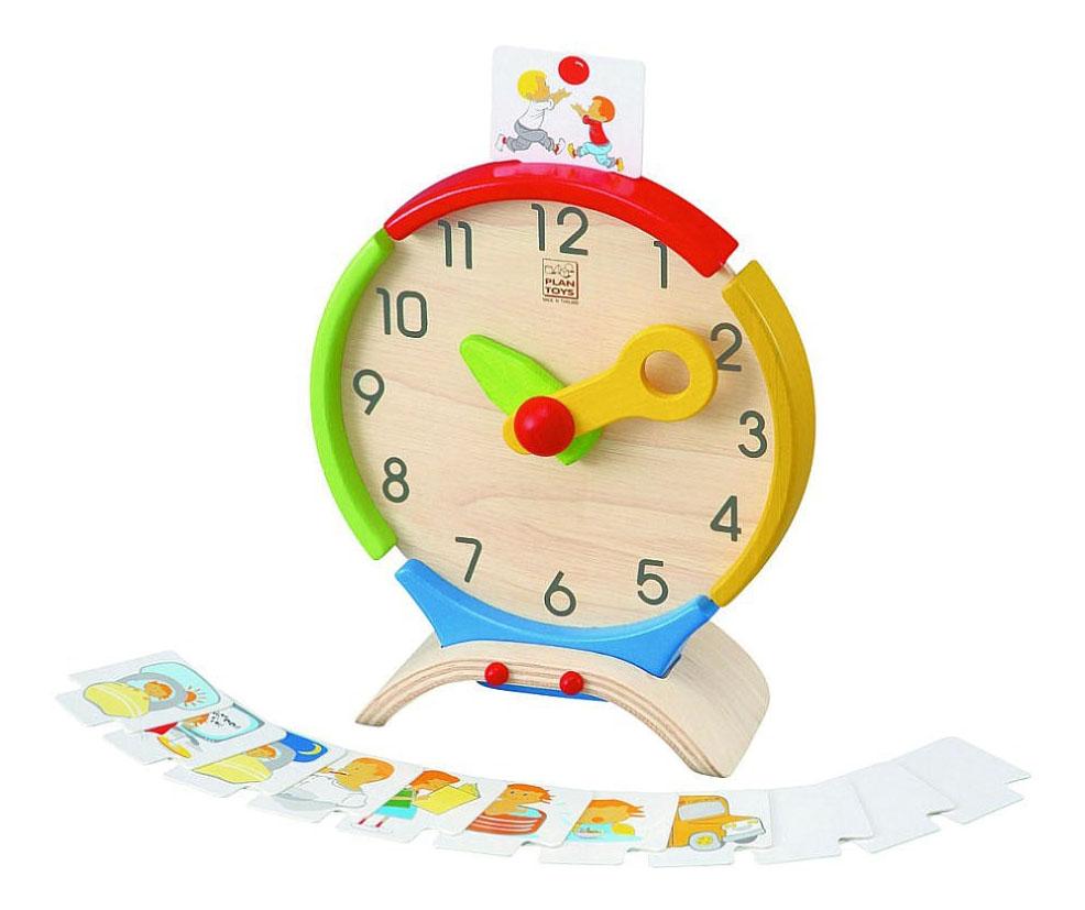 Купить Развивающая игрушка PlanToys Часы, Развивающие игрушки