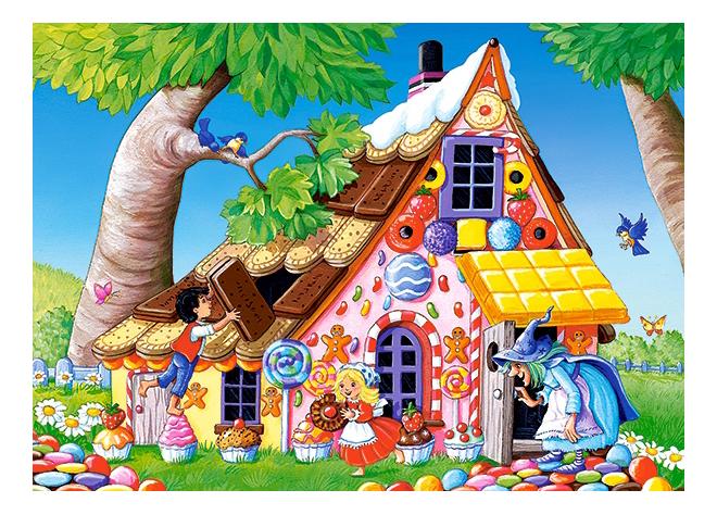Купить Пряничный домик, Пазл Castorland сказки 120 деталей,