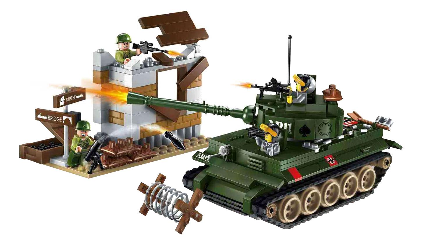 Купить Конструктор Танк Brick Combat Zones 1711, Конструкторы пластмассовые