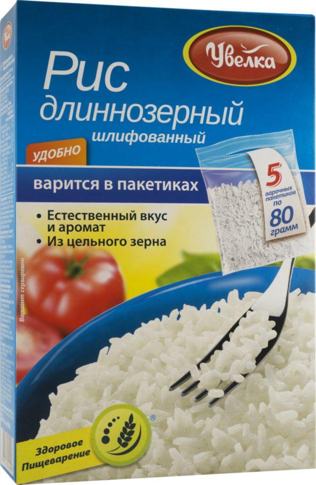 Рис Увелка длиннозерный шлифованный 80 г 5 пакетиков фото