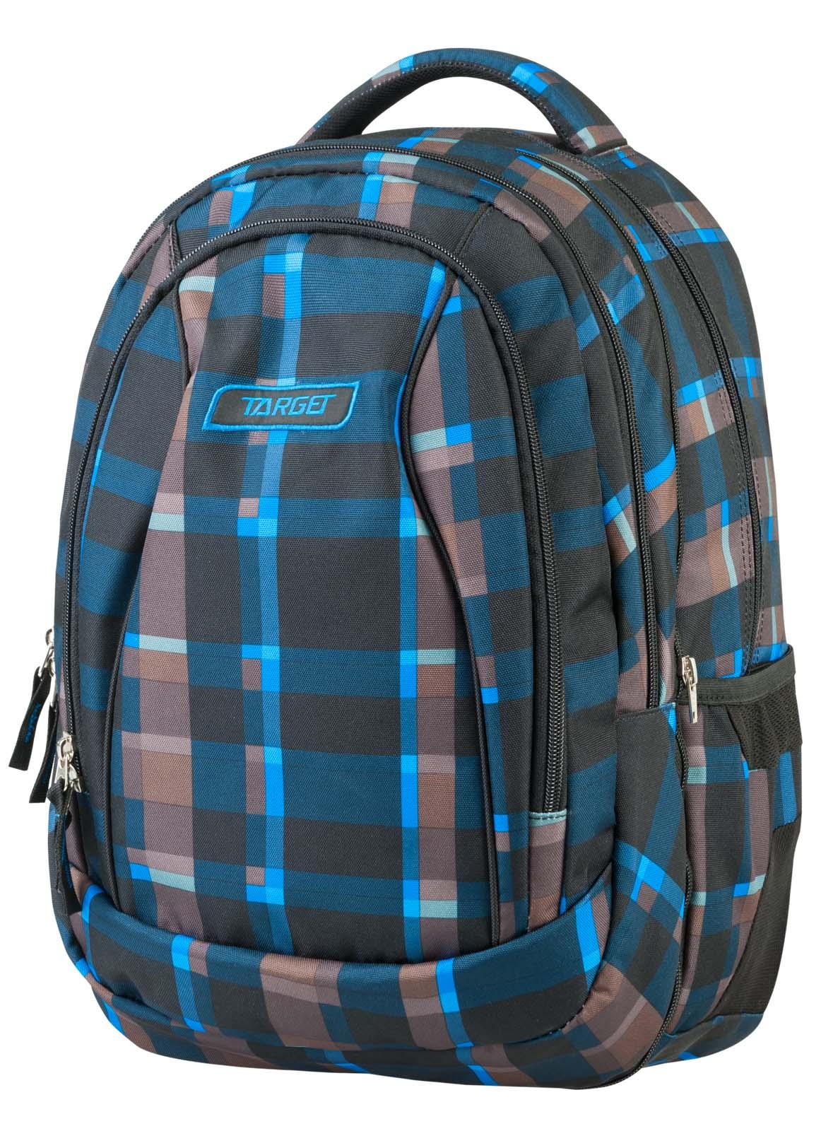 Купить Рюкзак 2 в 1 Allover 3 синий с коричневым 21430, Target, Школьные рюкзаки для девочек