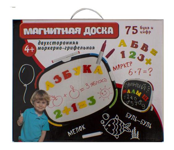 Купить Доска для рисования Магнитная доска буквы, цифры, мелки, маркер Татой