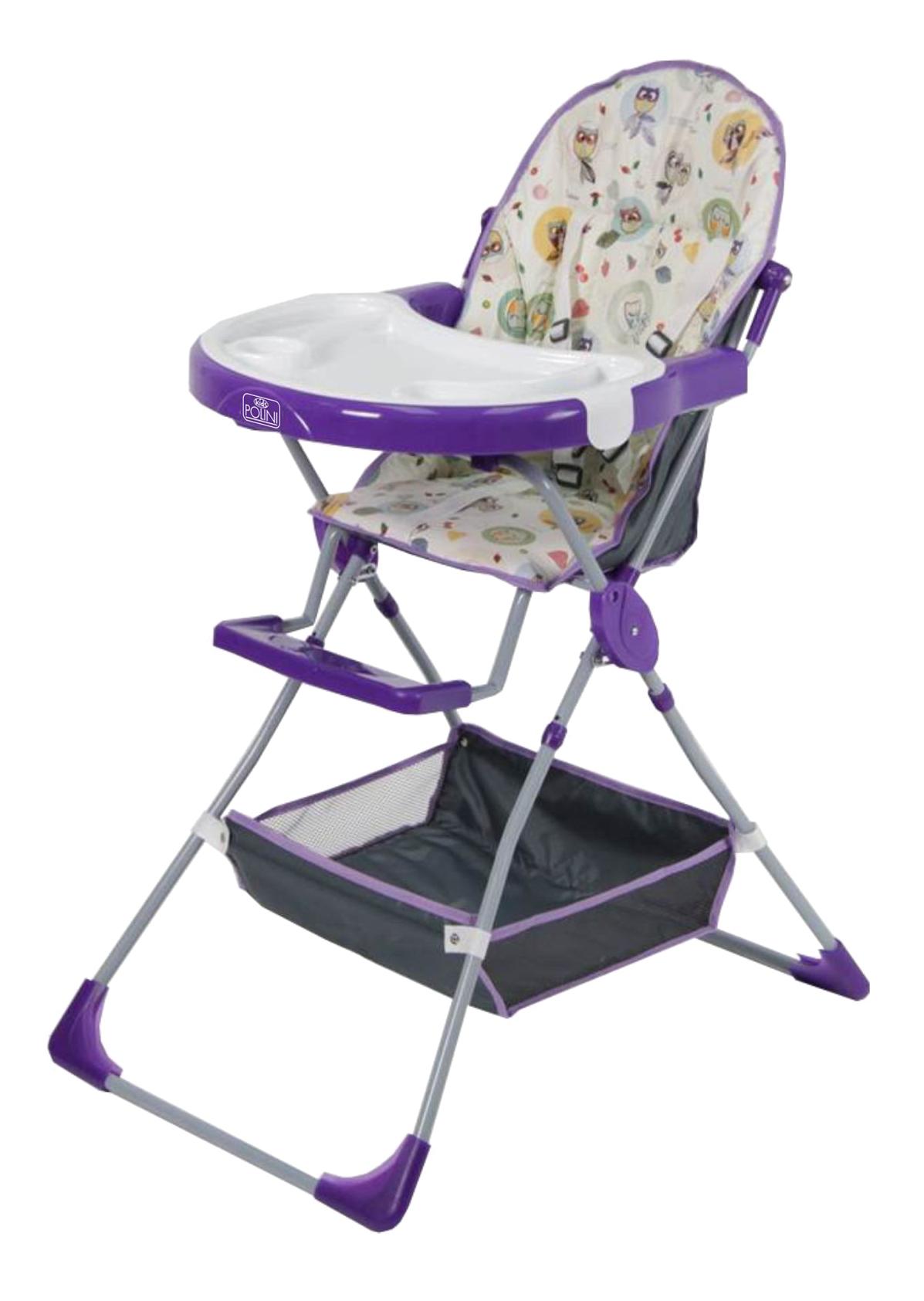 Стульчик для кормления Совы фиолетовый Polini