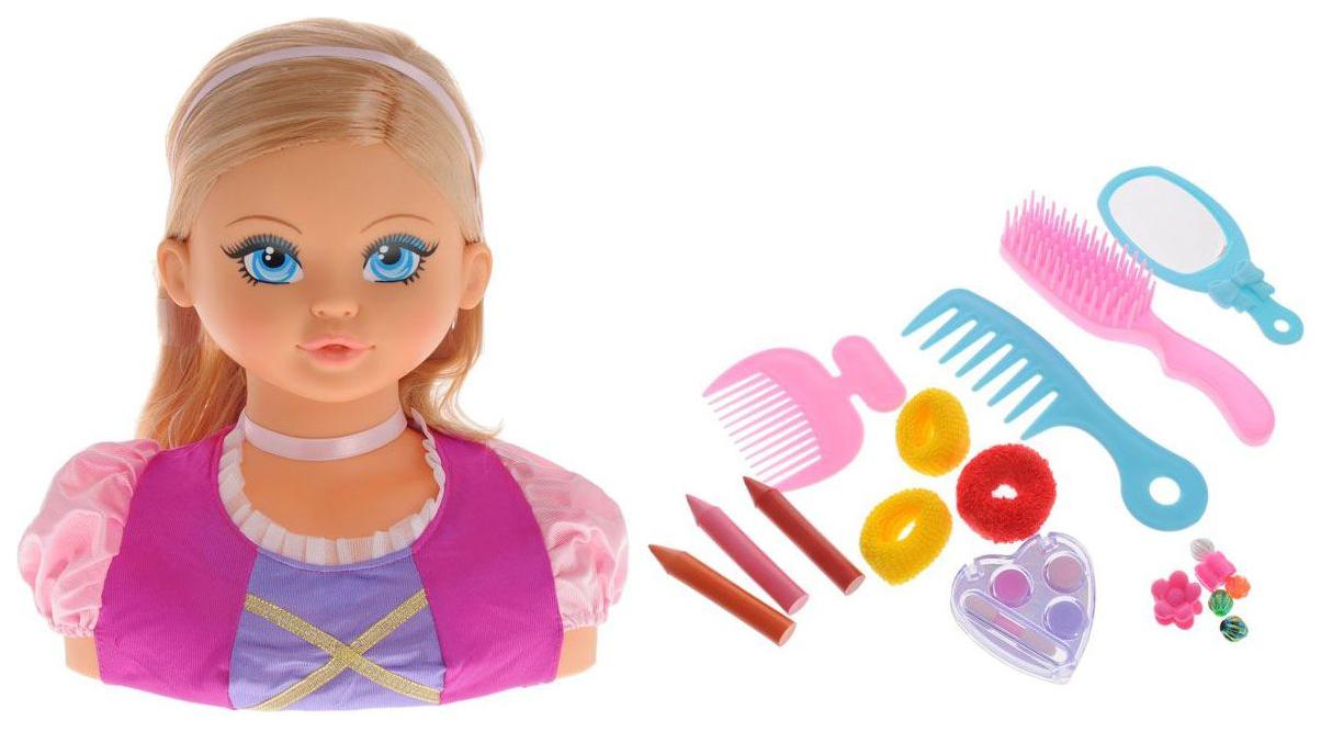 Купить Модель для создания причёсок FALCA TOYS Принцесса Дженни 28 см, Детские наборы парикмахера