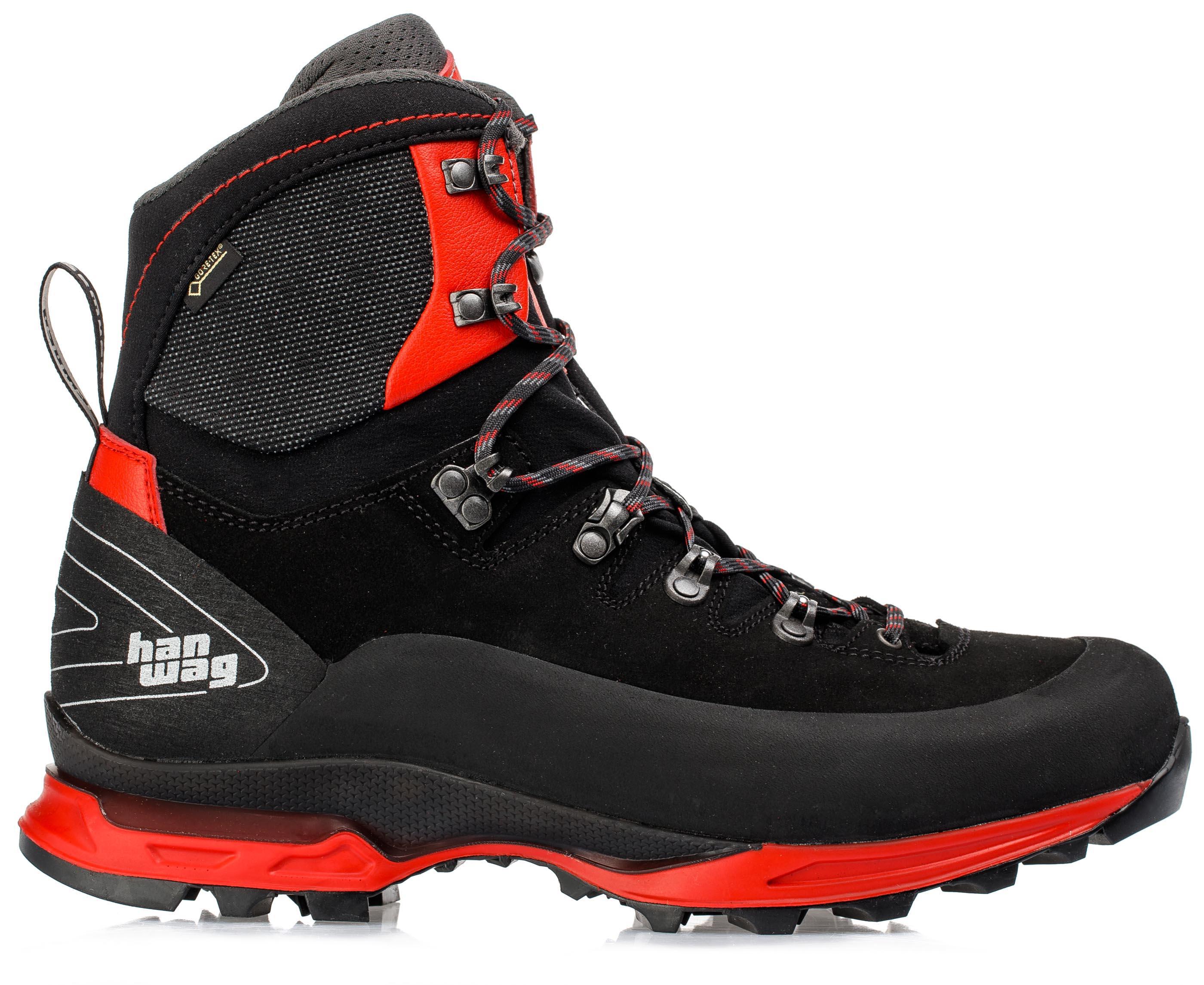 Ботинки мужские Hanwag Alverstone II GTX, black/red,