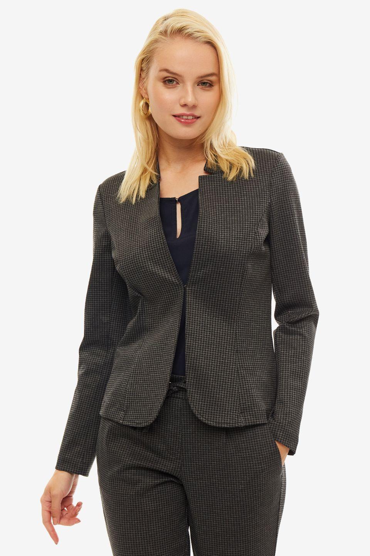 Пиджак женский TOM TAILOR серый