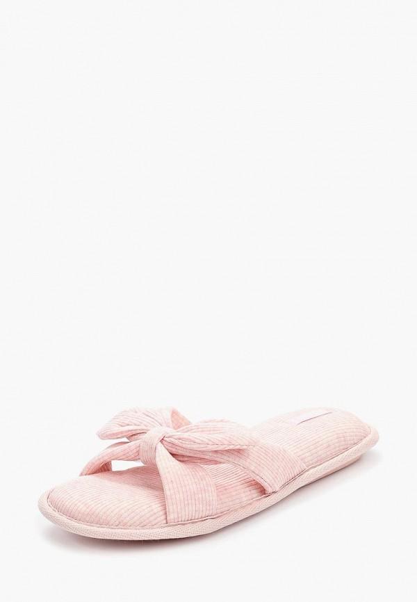 Домашние тапочки женские Halluci Трикотажные бантики розовые 36-37 RU фото
