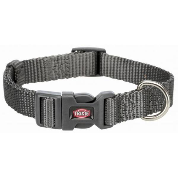 Ошейник для собак TRIXIE Premium, графит, L–XL, 40–65см, 25мм