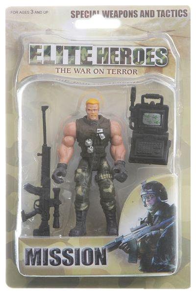 Набор Элитный солдат, фигурка, оружие, аксессуар, блистер