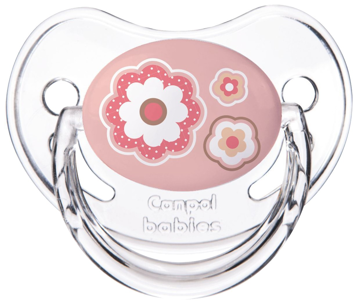 Пустышка анатомическая Canpol Newborn baby силикон, 0-6 мес., арт. 22/565 цвет розовый