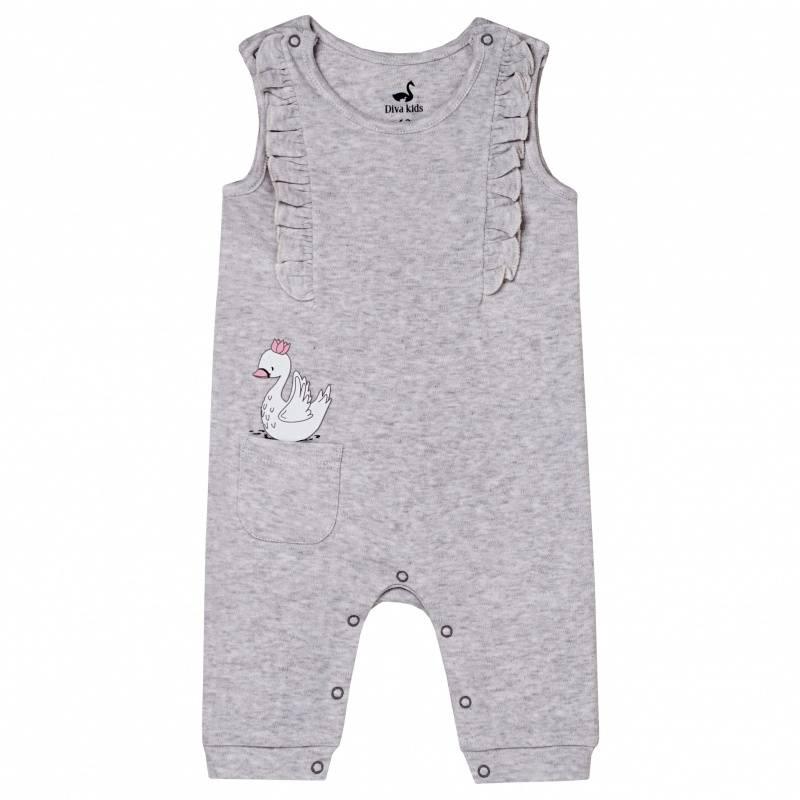 Купить DK-062, Комбинезон Diva Kids, цв. серый, 62 р-р, Трикотажные комбинезоны для новорожденных