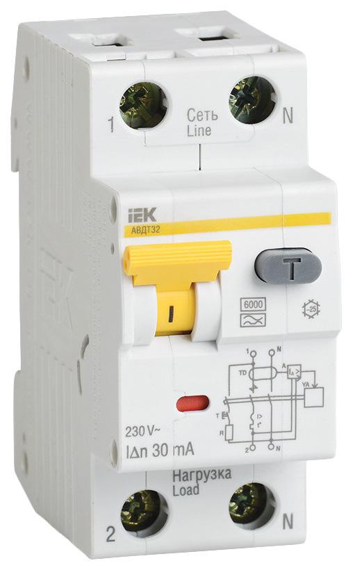 Выключатель автоматический АВДТ-32, 1Р+N, 16 А, 10 мА, А, 6 кА, MAD22-5-016-B-10 фото