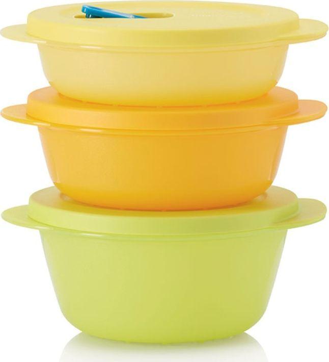 Посуда для СВЧ Tupperware Новая волна, 400мл/600мл/800мл